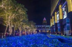 Taipei, Taiwan Christmas lights. TAIPEI , TAIWAN - DEC 10 : Christmas lights and decorations in downtown Taipei Taiwan on December 10 2017 Stock Photography