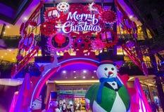 Taipei, Taiwan Christmas lights. TAIPEI , TAIWAN - DEC 10 : Christmas lights and decorations in downtown Taipei Taiwan on December 10 2017 Royalty Free Stock Images