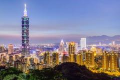 Taipei, Taiwan - circa agosto 2015: Torre in Taipei, Taiwan di Taipei 101 o di Taipei WTC Fotografia Stock Libera da Diritti
