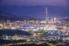 Taipei, Taiwan Cityscape Royalty Free Stock Photo