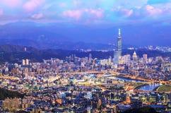 Taipei, Taiwan Cityscape from Neihu District. Stock Photography