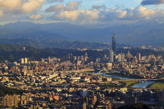 Taipei, Taiwan Cityscape from Neihu District. Royalty Free Stock Photography