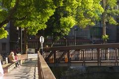 Taipei, Taiwan, Community Park, Little Park, Creekside. Taipei, Taiwan, community park, rest park, is a creek park stock images