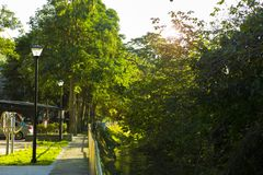 Taipei, Taiwan, Community Park, Little Park, Creekside. Taipei, Taiwan, community park, rest park, is a creek park stock image