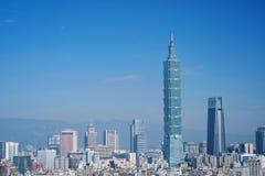 Taipei, Taiwan - 16 de janeiro de 2018: Taipei é um capital de Taiwan fotografia de stock royalty free