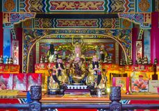 Chih Nan Temple in Taipei. TAIPEI , TAIWAN - DEC 08 : The interior of Chih Nan Temple in Taipei Taiwan on December 08 2017. Chin Nan is a Taoist temple on the Royalty Free Stock Images
