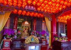 Chih Nan Temple in Taipei. TAIPEI , TAIWAN - DEC 08 : The interior of Chih Nan Temple in Taipei Taiwan on December 08 2017. Chin Nan is a Taoist temple on the Stock Image
