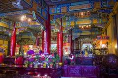 Chih Nan Temple in Taipei. TAIPEI , TAIWAN - DEC 08 : The interior of Chih Nan Temple in Taipei Taiwan on December 08 2017. Chin Nan is a Taoist temple on the Stock Photo
