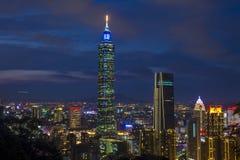 Taipei, Taiwan skyline. TAIPEI , TAIWAN - DEC 14 : The scene of Taipei 101 building and Taipei city Taiwan on December 14 2017. The photo has been taken from the Royalty Free Stock Photography
