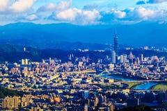 Taipei, Taiwan evening skyline Stock Photography