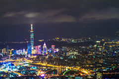 Taipei, Taiwan evening skyline Stock Photos