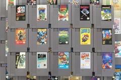 Some Classic Nintendo NES Cartridges Royalty Free Stock Photos