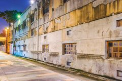 Huashan 1914 creative park. TAIPEI, TAIWAN - JULY 11: This is a night view of Huashan 1914 Creative Park old style architecture on July 11, 2017 in Taipei Royalty Free Stock Images