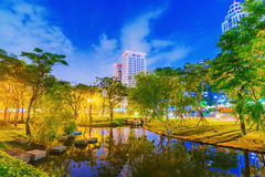 Banqiao park night view Royalty Free Stock Photography