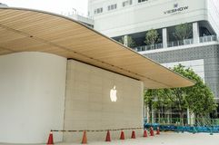 Taipei, Taiwan - June 6, 2019: Taiwan's second Apple Store — Apple Xinyi A13 — in new Far Eastern Department Store. royalty free stock photography