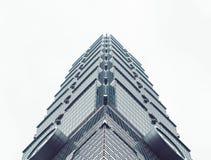 TAIPEI TAIWAN - mars, 2015: Taipei 101 byggande modern arkitekturgränsmärke i Taipai Royaltyfri Fotografi