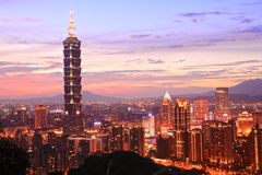 The Taipei 101,Taiwan. The Taipei 101 night view,Taiwan stock photo