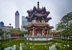 TAIPEI, TAIWAN - NOVEMBER 13, 2017: Gazebo in 228 memorial park Royalty Free Stock Images