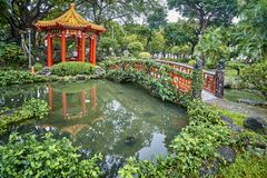 TAIPEI, TAIWAN - NOVEMBER 14, 2017: Gazebo in 228 memorial park Stock Photography