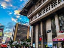 Taipei Taiwan - November 20, 2015: Sikt på Taiwan höga Spee Royaltyfria Foton