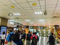 Taipei Taiwan - November 20, 2015: Sikt på Taiwan höga Spee Arkivfoto