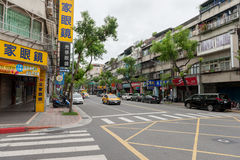 TAIPEI, TAIWAN - NOVEMBER 30, 2016: Taipei Street in one of suburb, district. Stock Photography