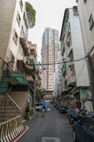 TAIPEI, TAIWAN - NOVEMBER 30, 2016: Taipei Street in one of suburb, district. Royalty Free Stock Photos