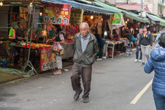 TAIPEI, TAIWAN - NOVEMBER 30, 2016: Taipei Street in one of suburb, district. Market Street in Taipei. Stock Photo