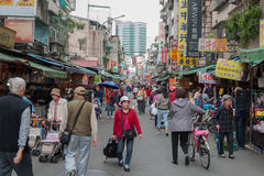 TAIPEI, TAIWAN - NOVEMBER 30, 2016: Taipei Street in one of suburb, district. Market Street in Taipei. Stock Photography