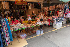 TAIPEI, TAIWAN - NOVEMBER 30, 2016: Taipei Street in one of suburb, district. Market Street in Taipei. Stock Image