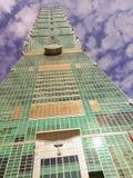 Taipei Taiwan - November 22, 2015: Taipei 101 torn, sikt från Arkivfoton