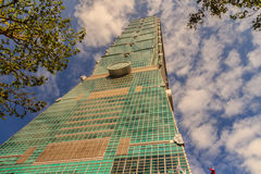 Taipei Taiwan - November 22, 2015: Taipei 101 torn, sikt från Arkivfoto