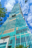 Taipei Taiwan - November 22, 2015: Taipei 101 torn, sikt från Royaltyfri Foto