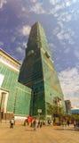 Taipei Taiwan - November 22, 2015: Taipei 101 torn, sikt från Arkivbilder