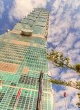 Taipei Taiwan - November 22, 2015: Taipei 101 torn, sikt från Royaltyfria Bilder