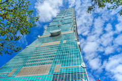 Taipei Taiwan - November 22, 2015: Taipei 101 torn, sikt från Royaltyfria Foton