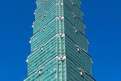TAIPEI TAIWAN - OKTOBER 9,2017: Sikt av den Taipei 101 skyskrapan, huvudstad på nya Taipei Arkivfoton