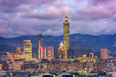 Taipei Taiwan skyline Royalty Free Stock Photo