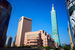 Taipei, Taiwan skyline viewed during the day Royalty Free Stock Image
