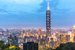 Taipei, Taiwan skylines Stock Photos