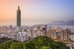 Taipei Taiwan stadshorisont arkivbilder