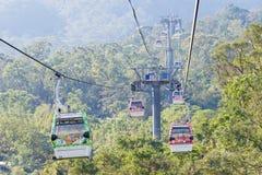 TAIPEI TAJWAN, Jan 26 2016, -: Maokong gondola sławny landscap Zdjęcia Royalty Free