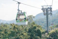 TAIPEI TAJWAN, Jan 26 2016, -: Maokong gondola sławny landscap Obraz Stock