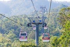 TAIPEI TAJWAN, Jan 26 2016, -: Maokong gondola sławny landscap Obraz Royalty Free