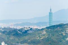 TAIPEI TAJWAN, Jan 26 2016, -: Taipei miasta widok od Maokong Gond Obrazy Stock