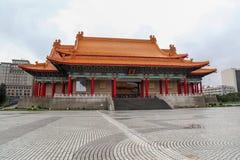 Taipei Tajwan, Październik, - 12, 2018: Obywatel filharmonia przy Chiang Kai Shek pamiątkową salą i W dżdżystym fotografia stock