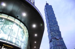 Taipei 101. Towering over downtown Taipei stock photography