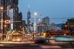 Taipei trafik Fotografering för Bildbyråer