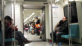 Taipei tunnelbanavagn HD stock video