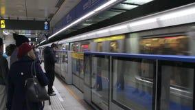 Taipei tunnelbanaXimen station HD lager videofilmer
